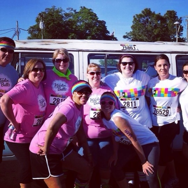 Haulin Balls Does The Color Run!!!! T-Shirt Photo