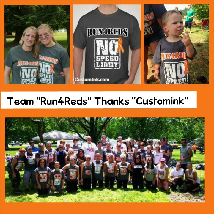 "Team ""Run4 Reds"" Fights Ms T-Shirt Photo"