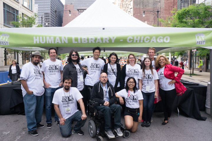 Human Library Chicago At Printers Row Lit Fest T-Shirt Photo