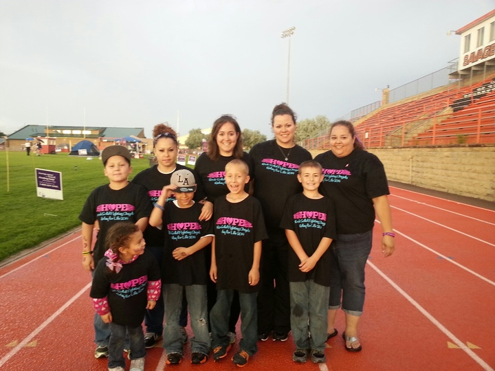 Rock Solid Fighting Angels, Relay For Life Team!  T-Shirt Photo