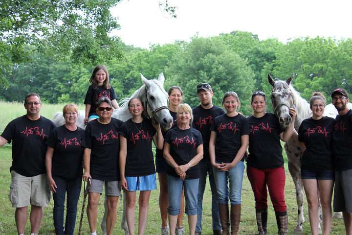 The Pace Maker Volunteer Staff After Our Amazingly Successful Fundraiser T-Shirt Photo