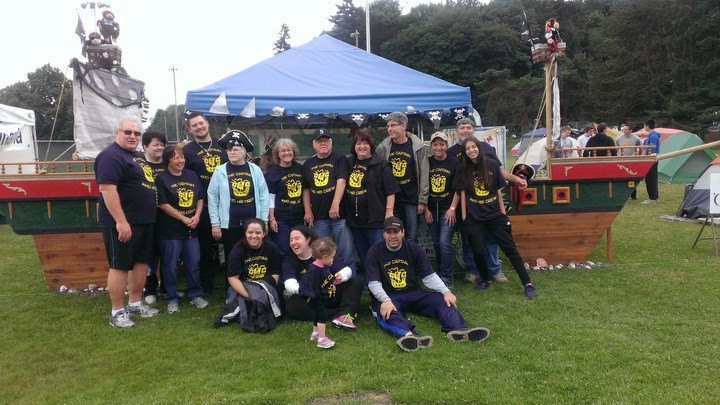 Captain And His Crew At Relay For Life 2014   Seatle T-Shirt Photo