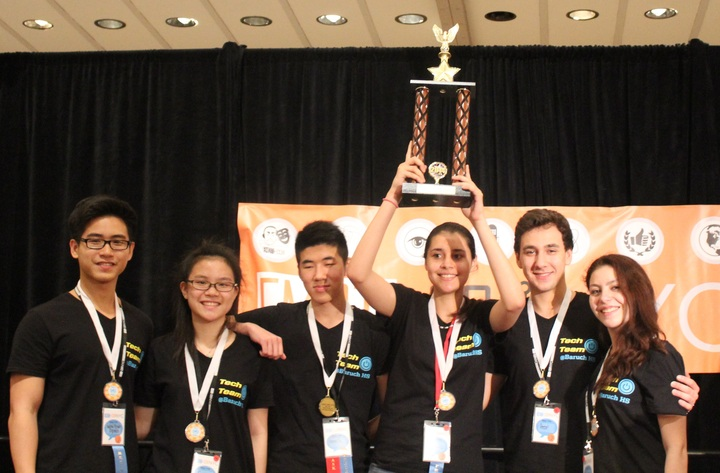 Tech Team Takes Trophy (With A Little Help From A Shirt) T-Shirt Photo