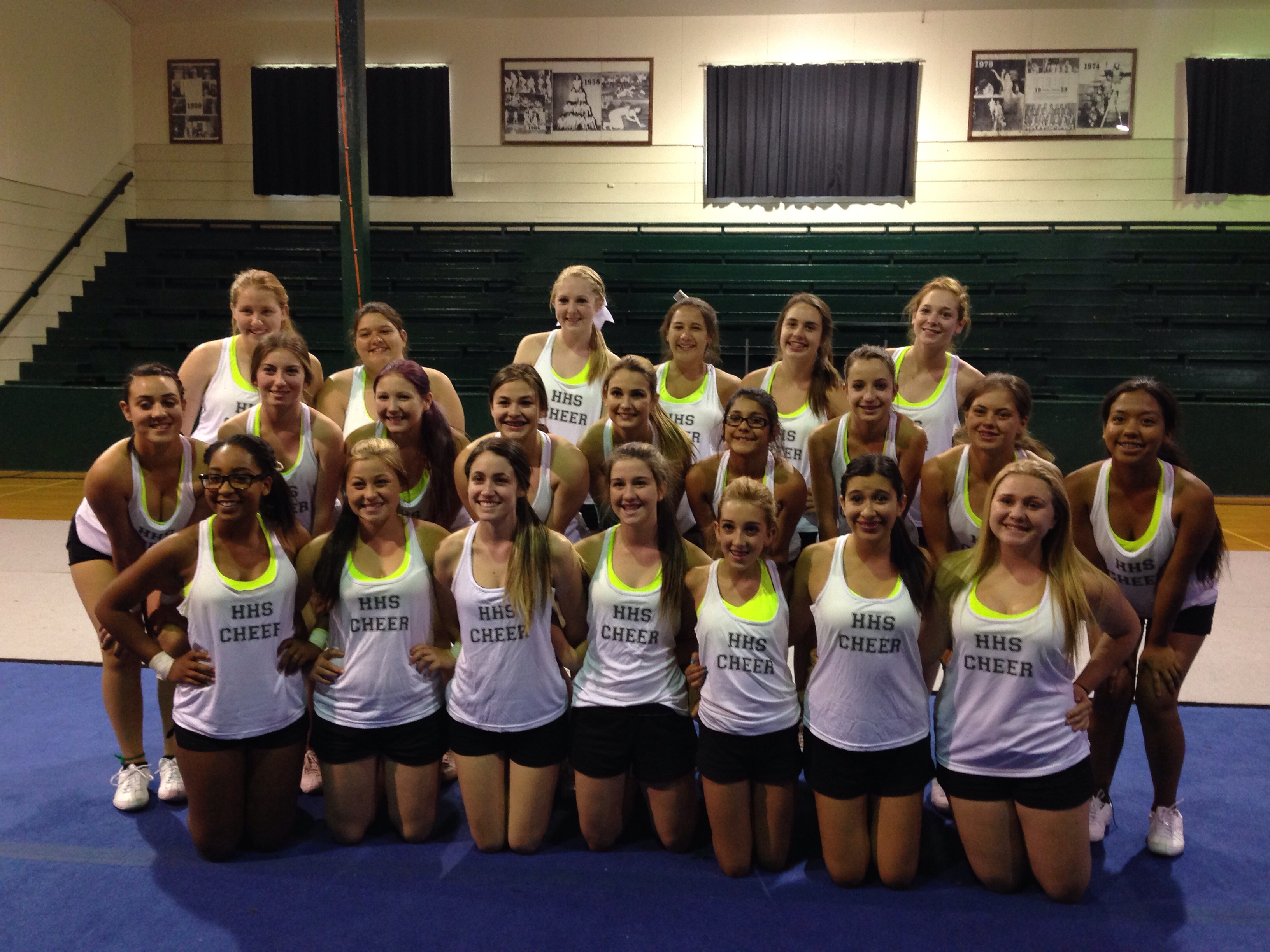 Custom t shirts for hhs cheer spirit camp shirt design for College dance team shirts