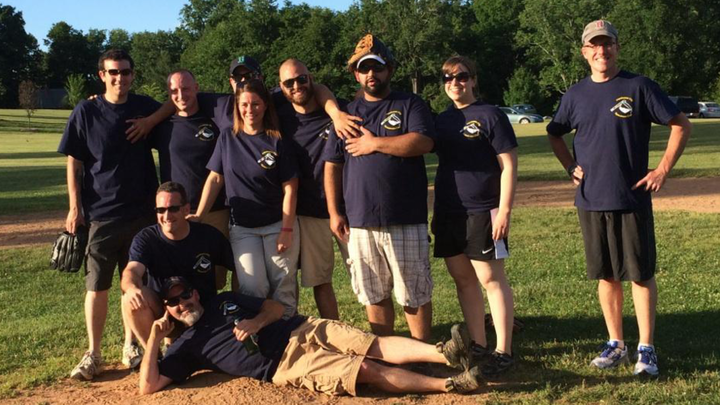 """2014 Specimen Cup""   Ems Vs. Er Softball Game T-Shirt Photo"