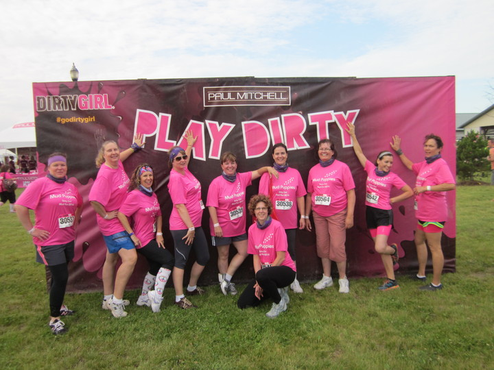 Team Mud Puppies  Dirty Gril 2014  Chicago T-Shirt Photo
