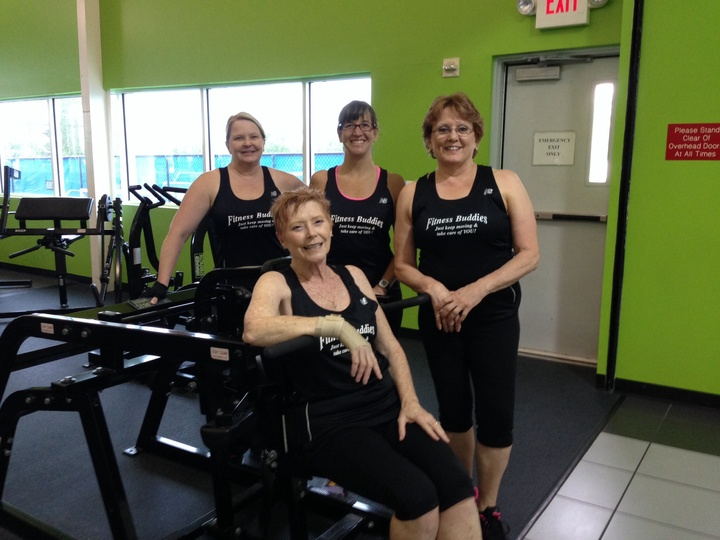Fitness Buddies Hitting The Trx Class! T-Shirt Photo