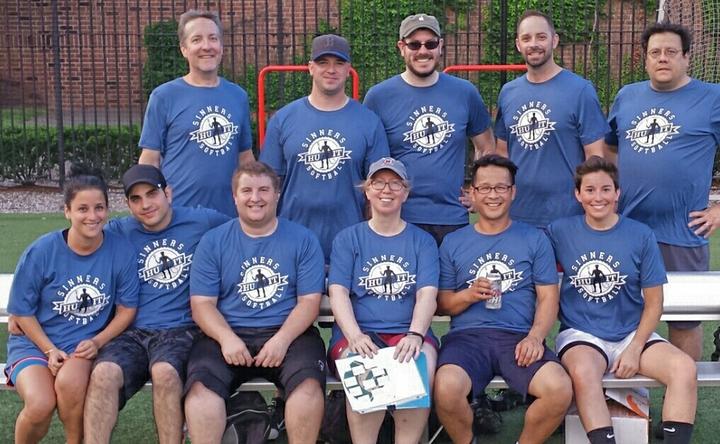 Sinners Softball T-Shirt Photo