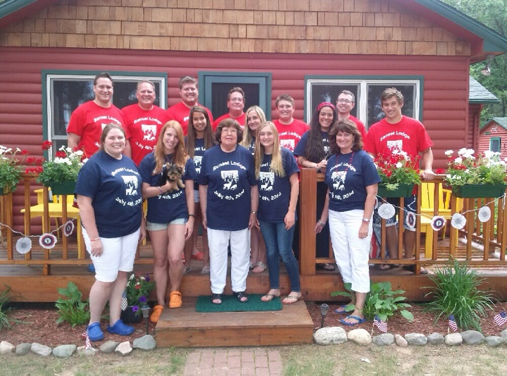 Sunset Lodge Family Reunion T-Shirt Photo