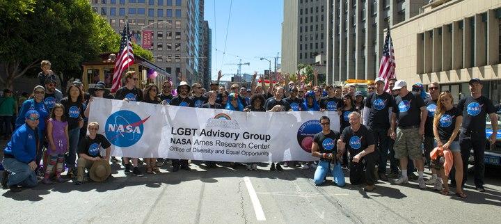 Nasa's First Lgbt Pride Parade Event. T-Shirt Photo