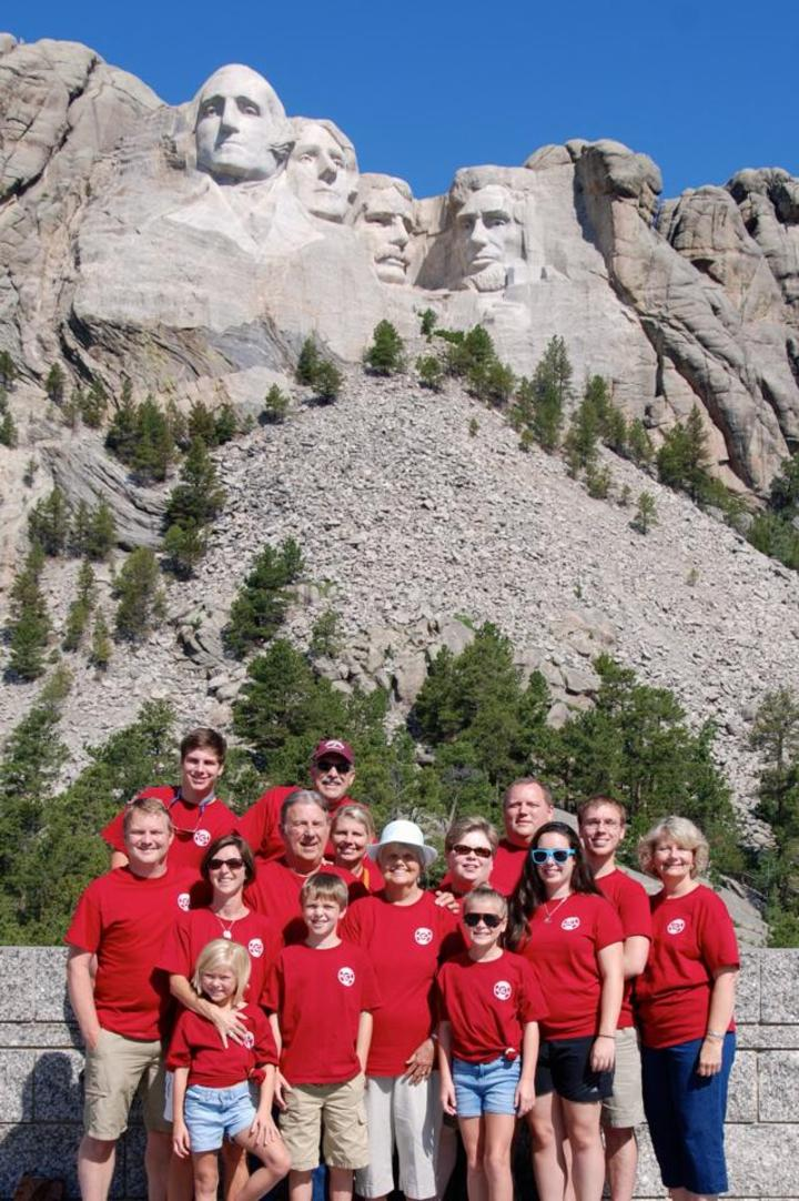 Crouch Crew At Mt. Rushmore T-Shirt Photo