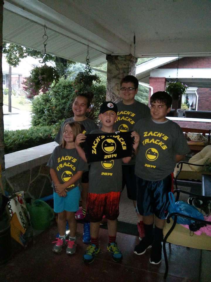 Zach's Tracks For Epilepsy Walk T-Shirt Photo