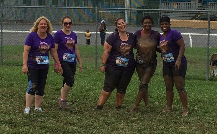 Lozilu 5k Mud Run 2014! The Dirty Flirties! T-Shirt Photo