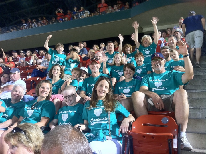 Mc Ginley Clan At The Ballpark T-Shirt Photo