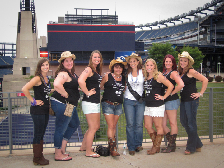Alli's Bachelorette At Gillette Stadium T-Shirt Photo