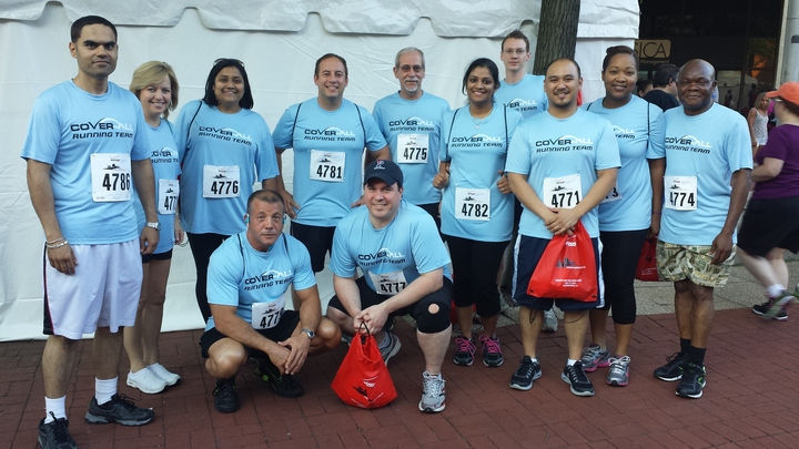 Team Cover All Tackles A 5k W/ Help From Custom Ink! T-Shirt Photo