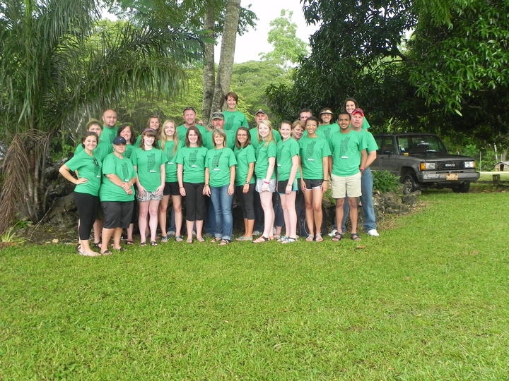 Corinth Bapist Church 2014 Belize Mission Team, Darden, Tennessee T-Shirt Photo