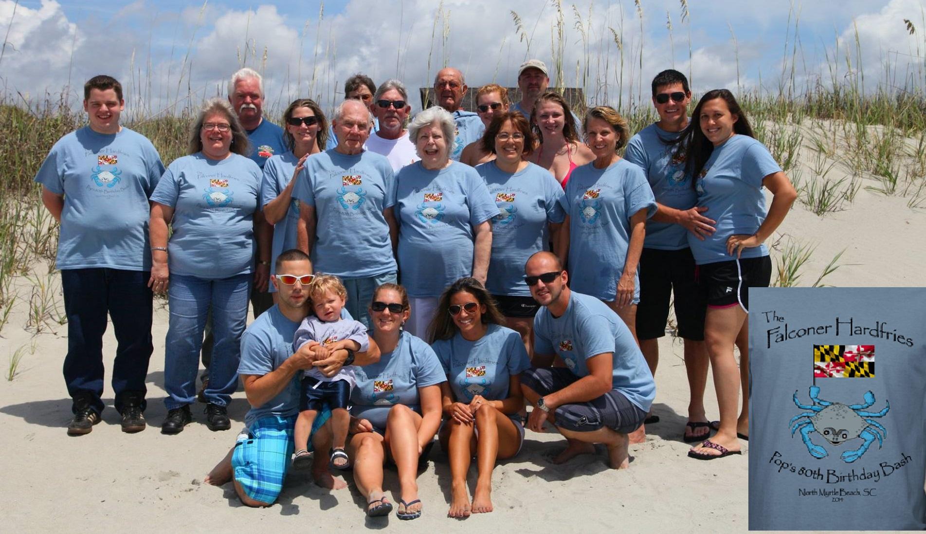 The Falconer Hardfries Pops 80th Birthday Bash T Shirt Photo