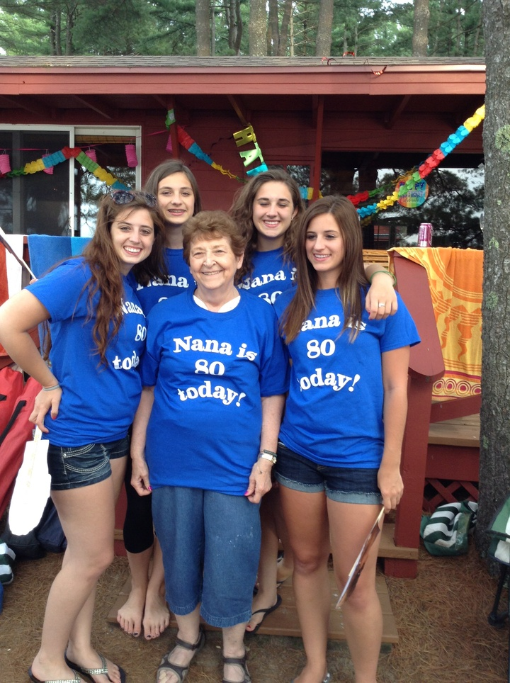 We Love Nana And Her Being 80! T-Shirt Photo