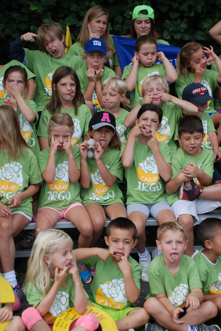 Goofy Faces At Camp Argo Thanks To Custom Ink!!! T-Shirt Photo