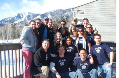 Just The Tip Ski Club In Jackson Hole, Wy 2008 T-Shirt Photo