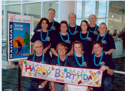 Doug's 50th Birthday Family Reunion Cruise Photo T-Shirt Photo