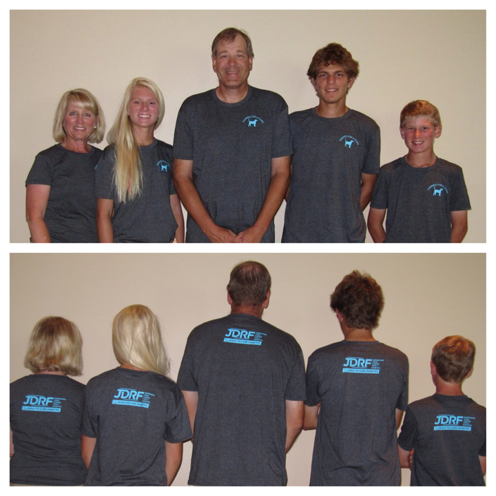 """Canines For A Cure"" Walk Team Shirts For Jdrf Omaha T-Shirt Photo"