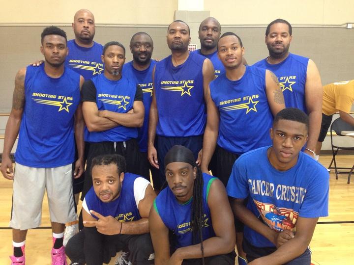 Shooting Stars Basketball Team T-Shirt Photo
