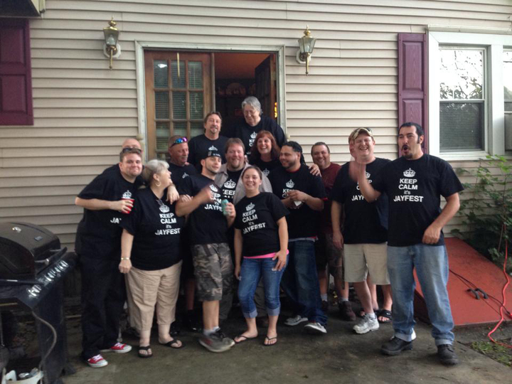 Half The Crew Showing Off Our Jayfest Tee's T-Shirt Photo
