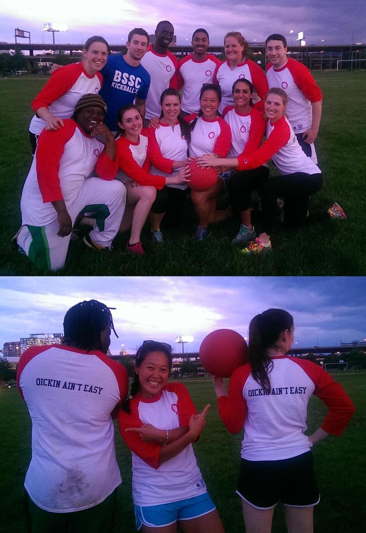 Qcbg Kickball Team T-Shirt Photo