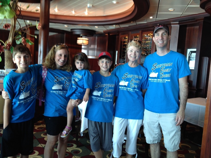 Celebrating Grandmom's Birthday On A Cruise! T-Shirt Photo