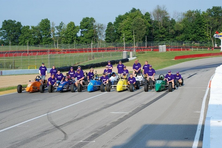 Formula First Drivers And Crew At Mid Ohio T-Shirt Photo