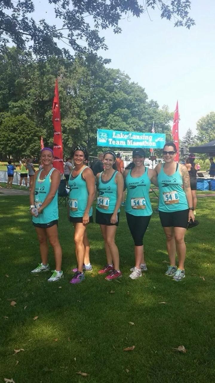 Kickin' Asphalt Marathon Relay T-Shirt Photo