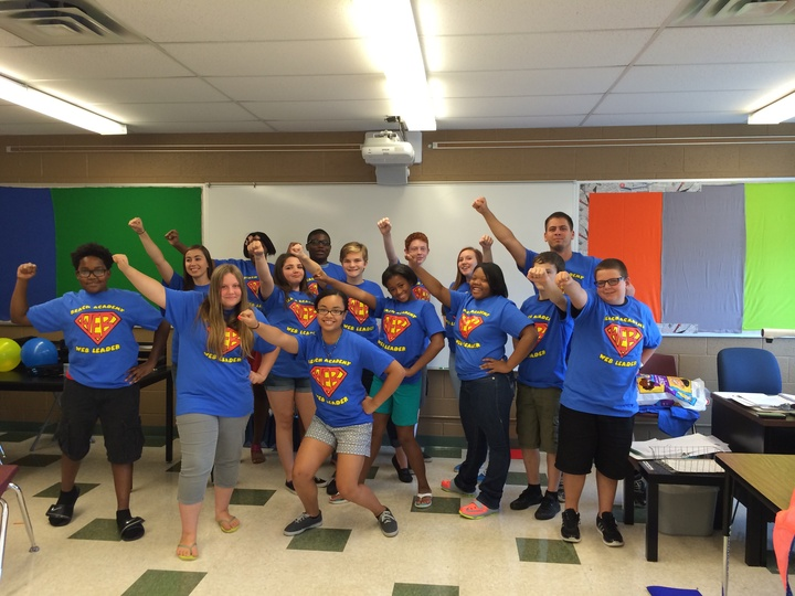 Web Leaders Are Superheroes! T-Shirt Photo