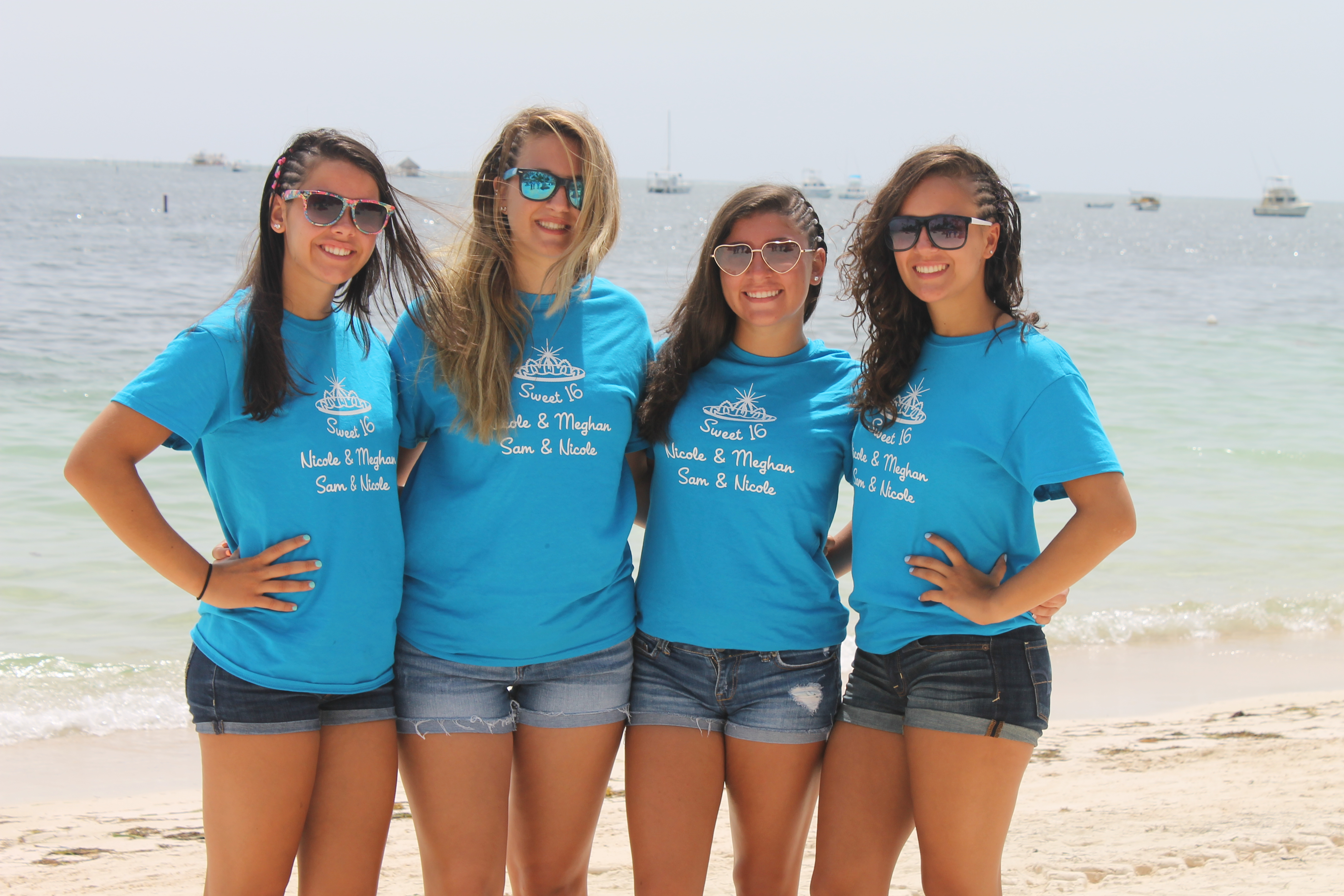 Custom t shirts for sweet 16 in punta cana shirt design for Great short vacation ideas