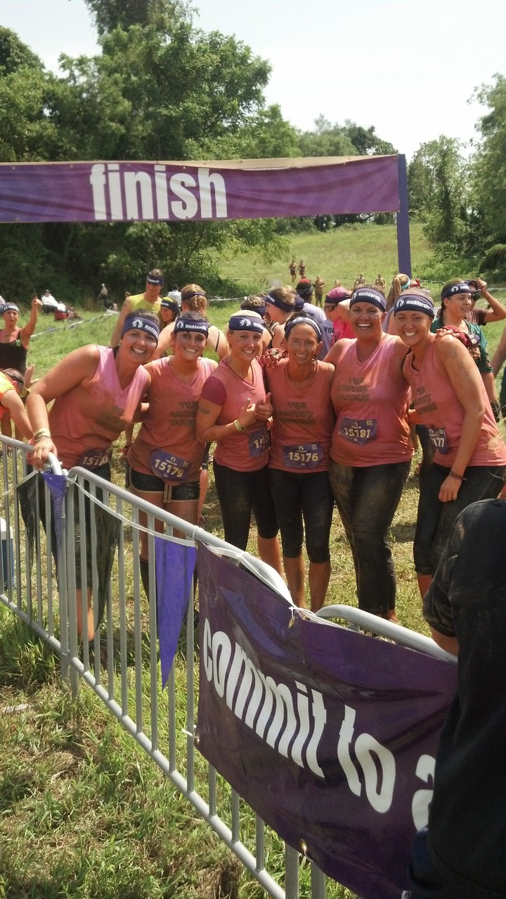 The Muddy Ducks At Mudderella In Unionville , Pa T-Shirt Photo
