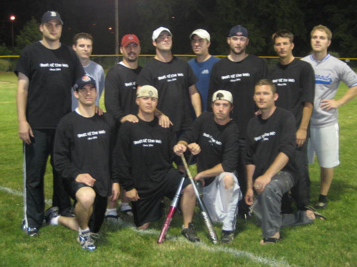 The Best Of The Web! Softball Team T-Shirt Photo