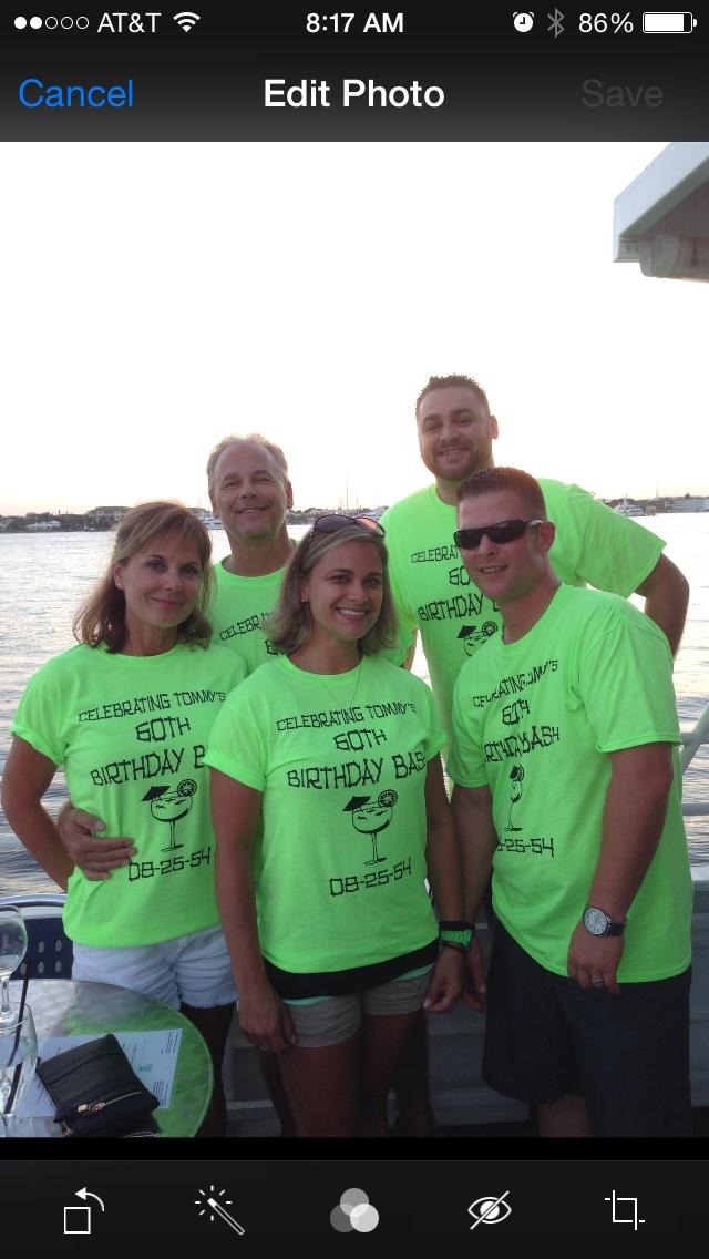 Custom T Shirts For Tommy S 60th Birthday Bash Shirt