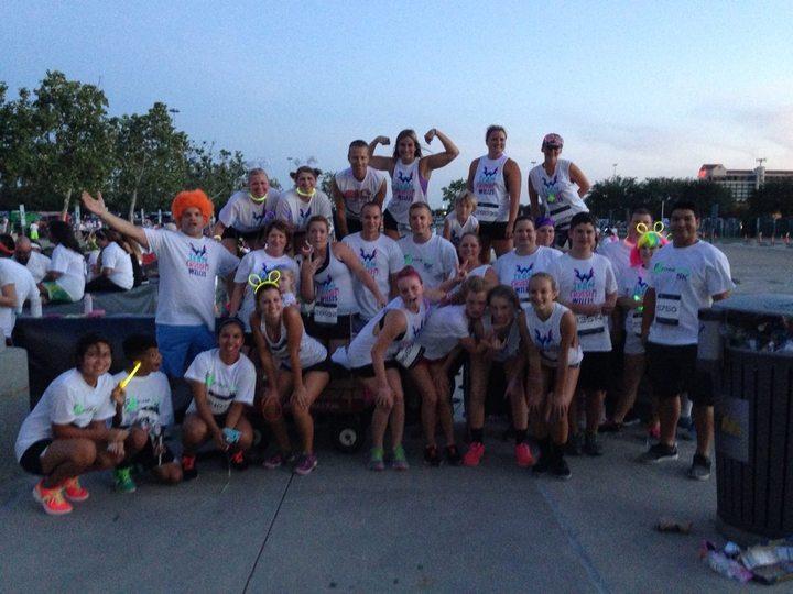 Team Crossfit Willis Foam Glow Runners T-Shirt Photo