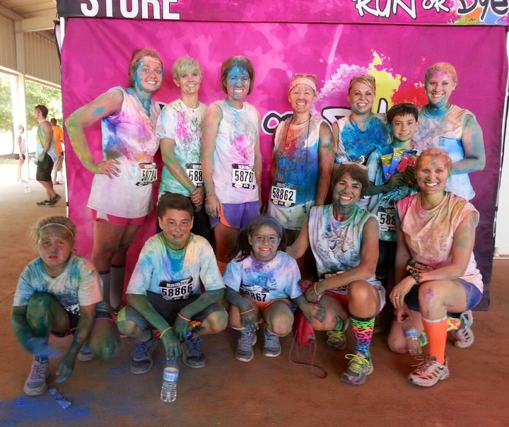 Sole Sisters Run Or Dye T-Shirt Photo