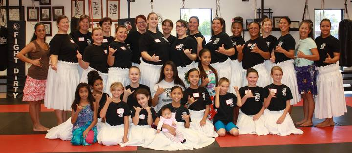 Kaju Az Hula Halau Rocks Our Customink Shirts! T-Shirt Photo