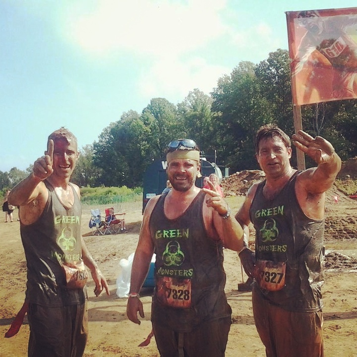 The Green Monsters Win 1st 2nd And 3rd At The Zombie Mud Run! T-Shirt Photo
