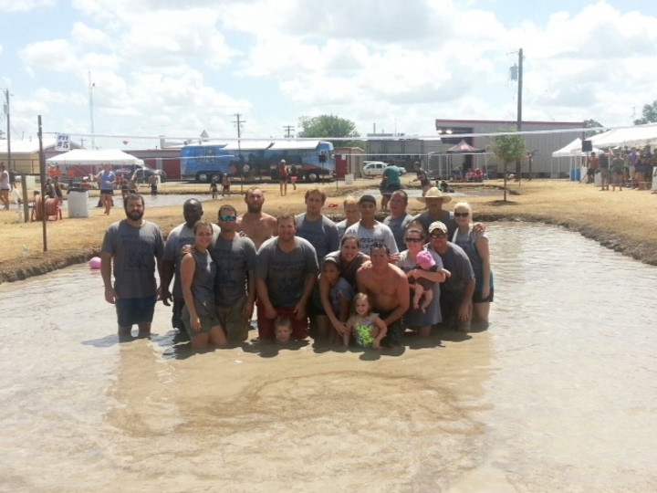 Anderson Oilfield Mud Volleyball T-Shirt Photo