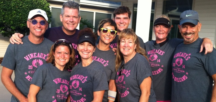 New Orleans Wineaux's Mixed Doubles State Finalists! T-Shirt Photo