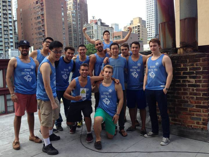Delta Phi Shows Off Their New Rush Tanks! T-Shirt Photo