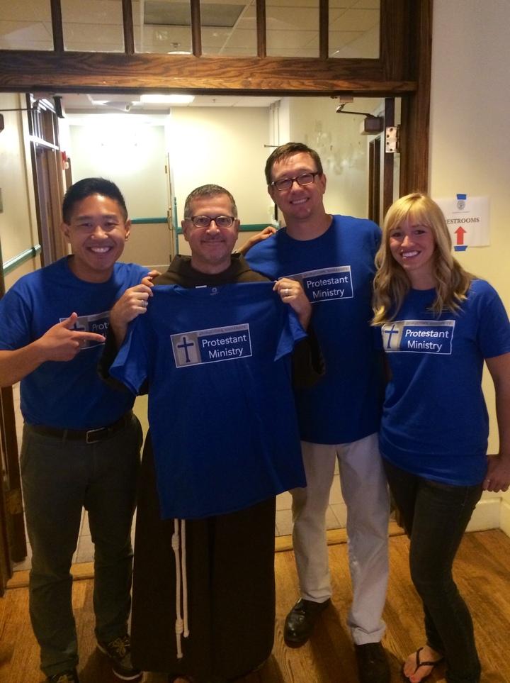 Hoya Saxa! Georgetown Loves Its Protestants! T-Shirt Photo
