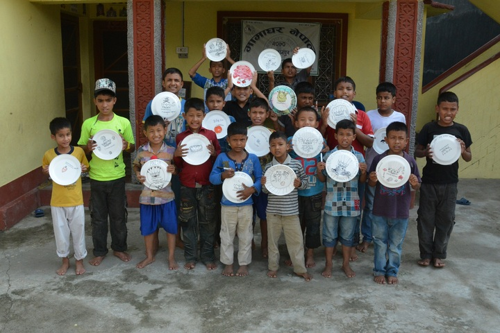 Children In Nepal T-Shirt Photo