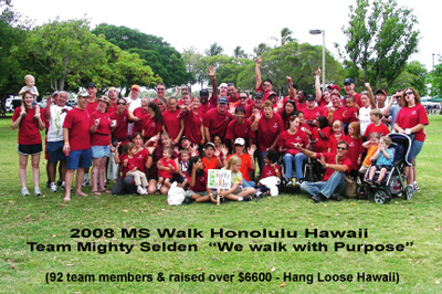 2008 Ms Walk Honolulu Hawaii T-Shirt Photo