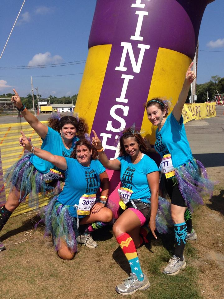 Celebrating Finishing The Diva Dash Boston T-Shirt Photo