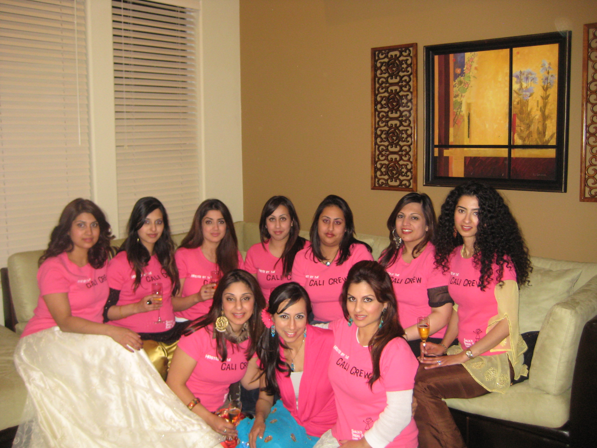 Custom TShirts for Shazas Bridal Shower Hosted By The Cali Crew
